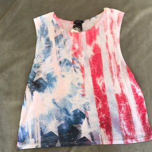 Red White and Blue flag Stars and Stripes tank